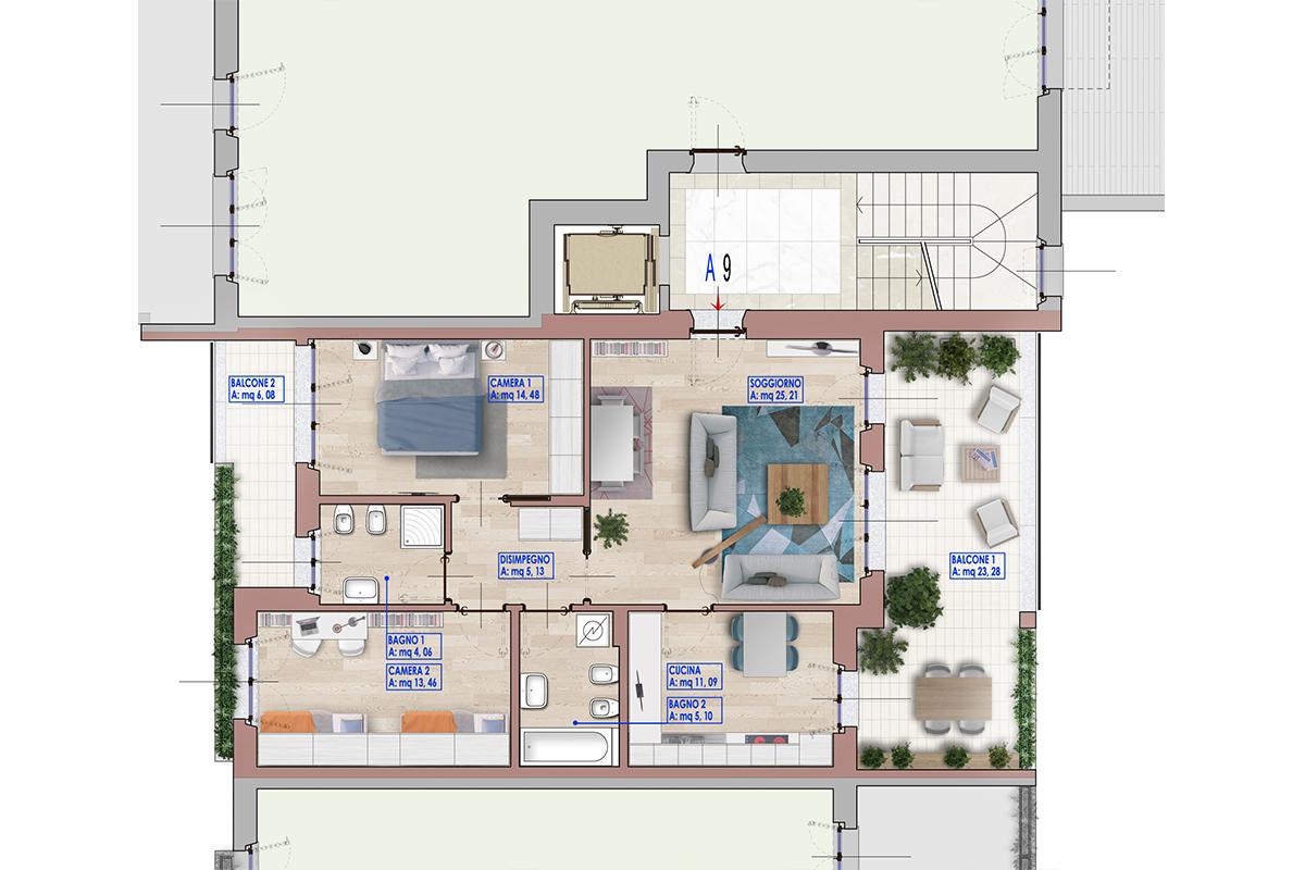 Progetto Cucina 9 Mq | Casa In Legno Monopiano Urb18 Urban Green
