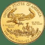 gold american eagle - 1 oz coin - back