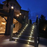 Indoor-Outdoor LED Recessed Black Stair Light Kit - 4 LED ...