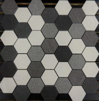 PTH7017 Porcelain Mosaic Salt N Pepper Hexagon Mosaic