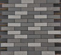 PTB2022 Porcelain Grey Mosaic Brick 1 x 3 - Schillings