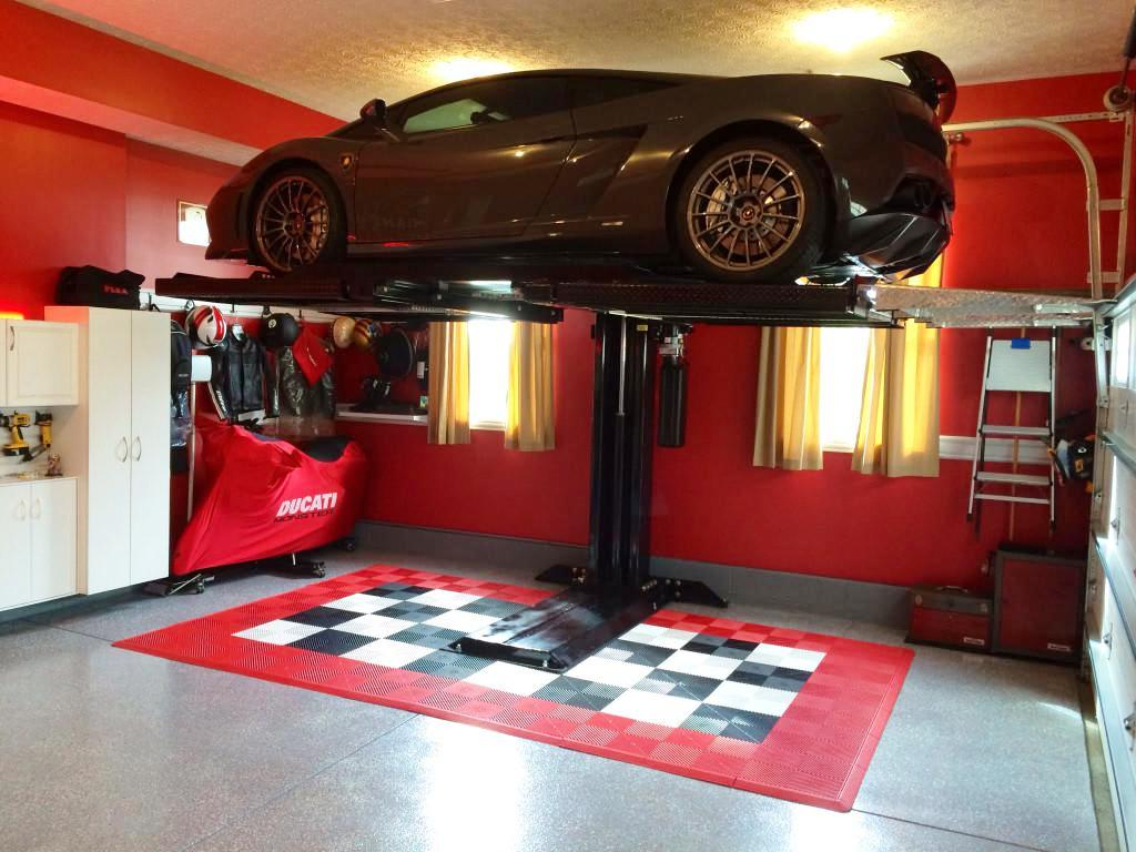Garage Car Lift For Storage Choosing Good Car Lift For Garage Schmidt Gallery Design
