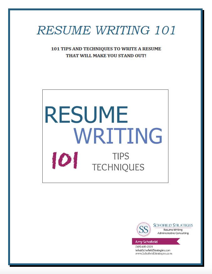 resume writing sample 101