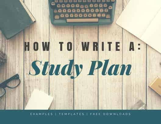 Study Plan Essay Study Plan Sample Study Plan Example