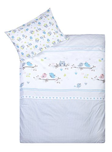 Babybett Bettwäsche Set Julius Zöllner 8510116113 Bettwäsche Happy Animals, 100
