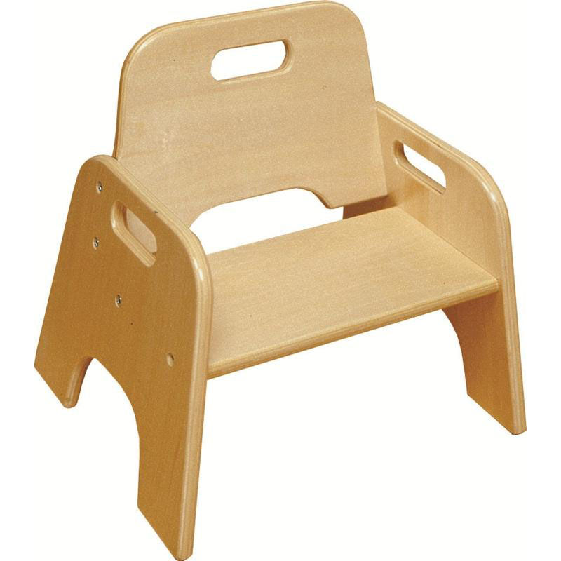 Big W Kids Chair 10 H Ready To Assemble Stackable Wooden Toddler Seat With Built In Handle Natural Finish