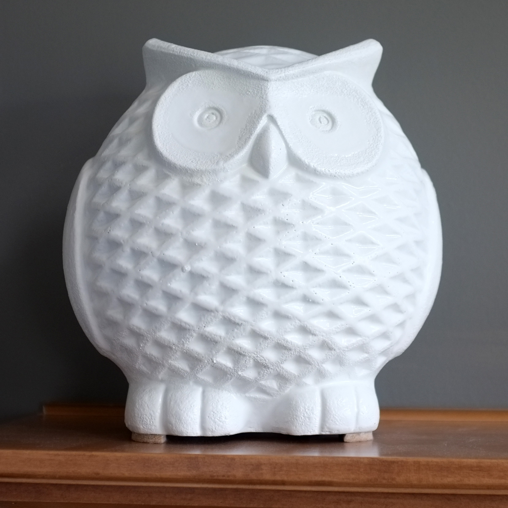 Owl Home Decor Accessories White Ceramic Owl School Of Decorating By Jackie Hernandez