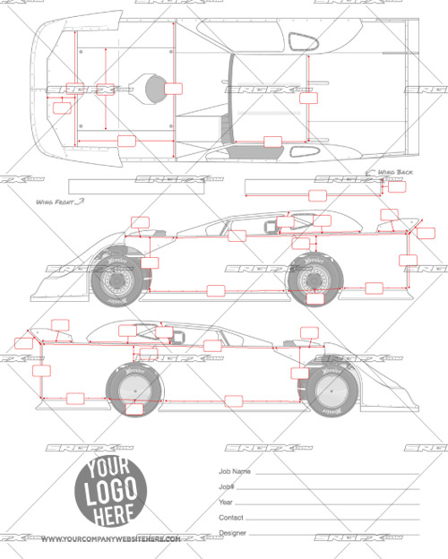 2014 Dynamic Dirt Late Model Template School of Racing Graphics - model template