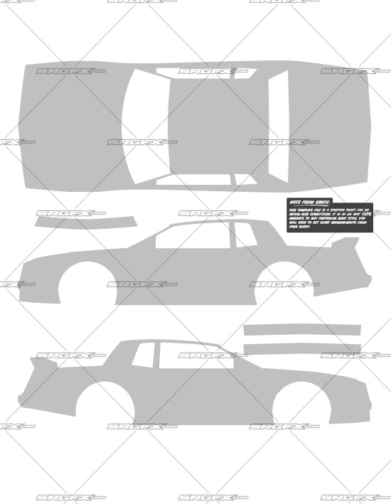 Street Stock Template 1 School of Racing Graphics
