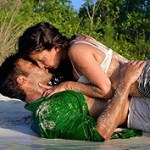 KissingCoupleInSand