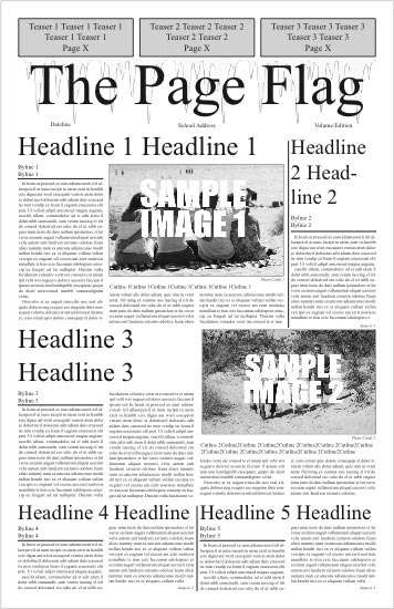 Newspaper Design Software-Free Online Newspaper Generator - Newspaper Headline Template