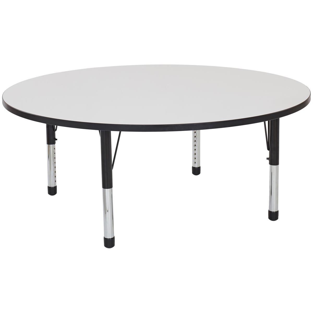 Adjustable Height Activity Table Round Adjustable Height Whiteboard Activity Table 60 Quotdia