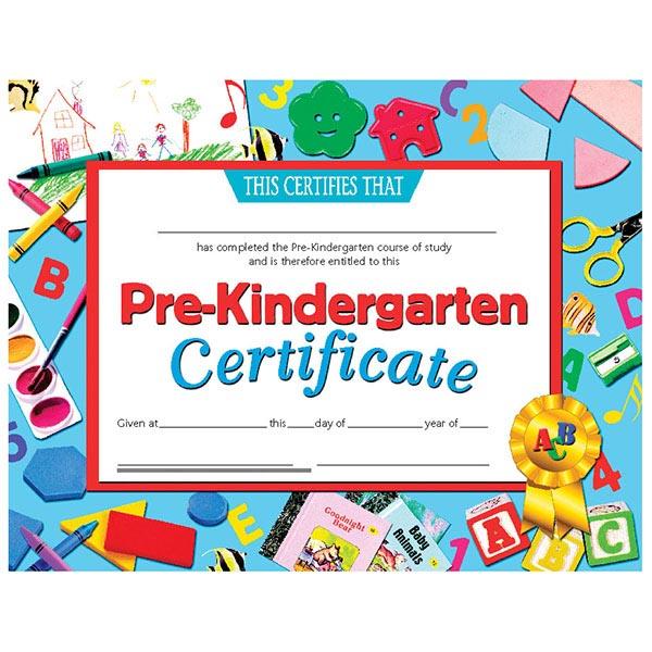 30 pk - VA699 Pre-Kindergarten Certificates - 8 1/2\