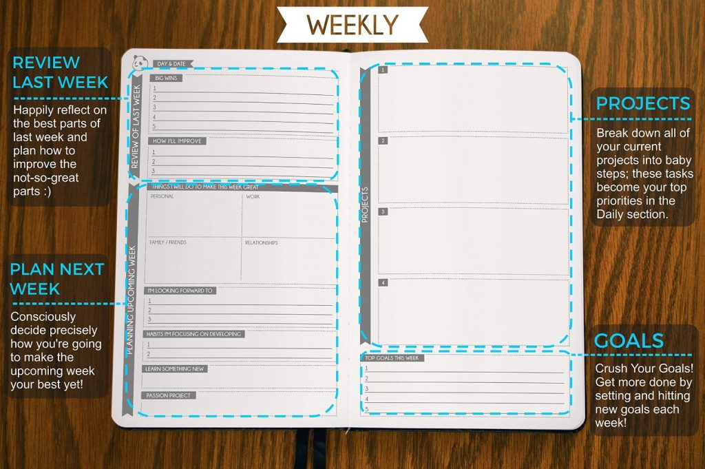 Panda Planner - Daily Calendar and Gratitude Journal - daily monthly planners