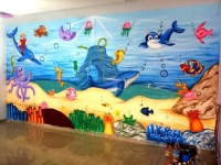 3d wall painting indore  school wall painting Indore