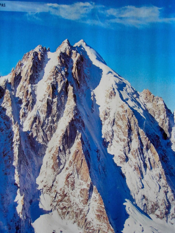 Die Aiguille Werte Nordseite- der markanteste Einschnitt- das Couturier Couloir
