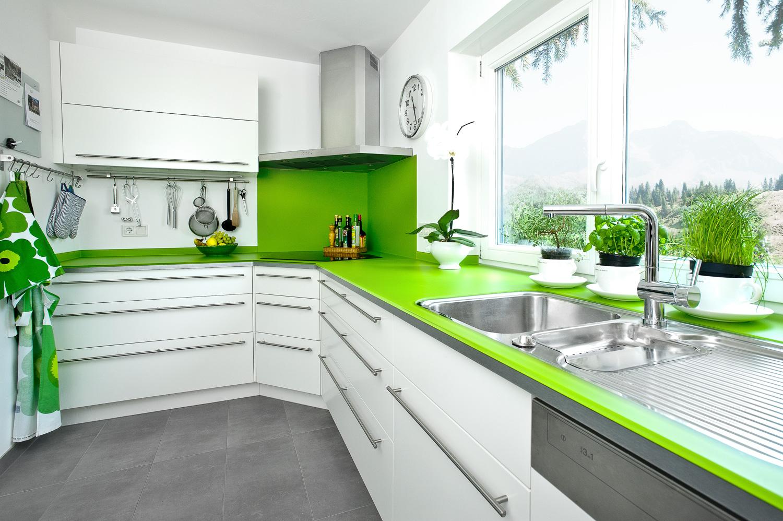 Küche Grün Wand   Weisse Kuche Grune Wand Kuche Mit Gruner Arbeitsplatte Grunes