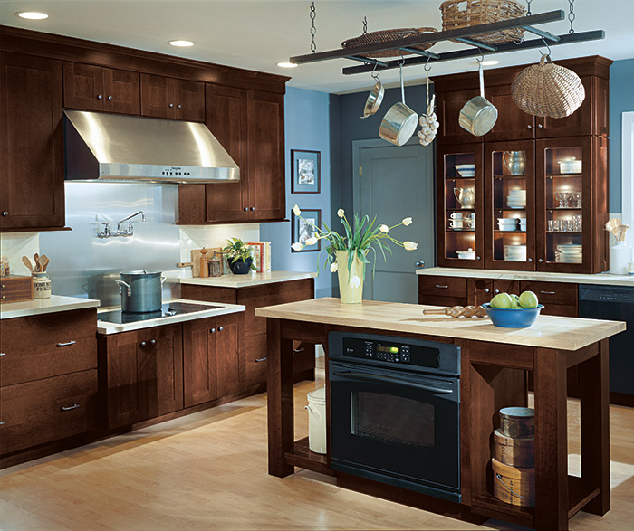 Maple Kitchen Cabinets With Gray Walls Gray Bathroom Cabinets - Schrock Cabinetry