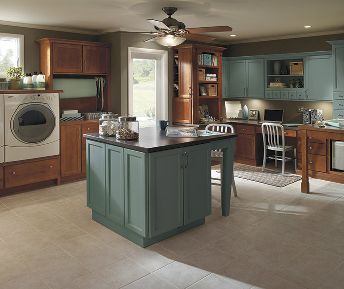 Folding Kitchen Island Laundry Room Cabinets - Schrock Cabinetry