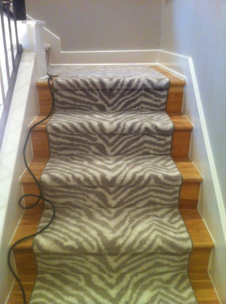 Black Fruday Zebra Staircase: Two Different Ways To Carpet The Stairs