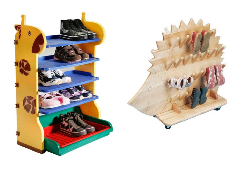 Stufenregal Massiv Kinder Schuhregal - Stiefeligel