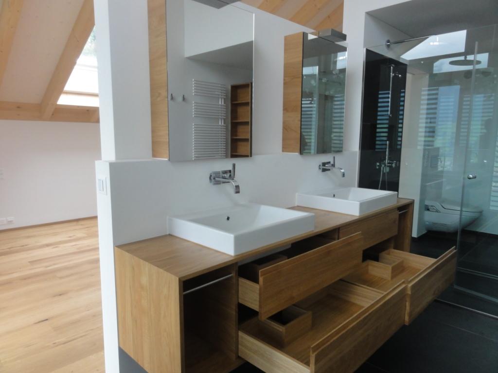 Badezimmer Mit Holzmöbel | Badmöbel Holz Weiß Lasiert Haus Ideen