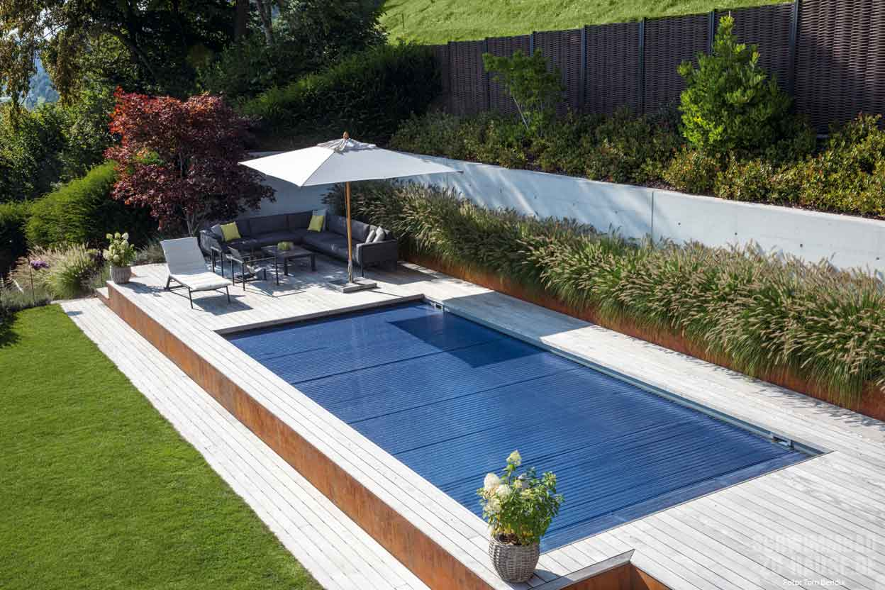 Garten Hanglage Pool Hillside Pool