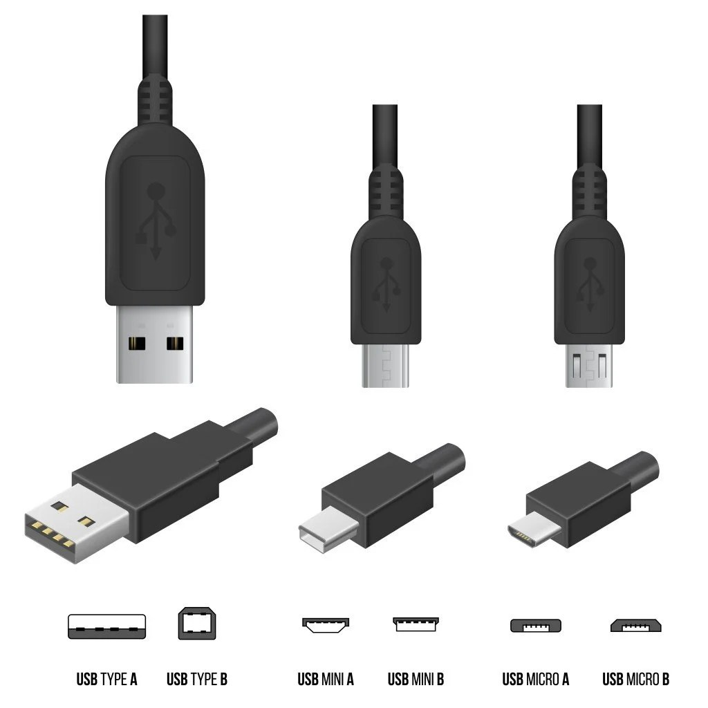 Usb C Cord Usb Types Various Types Of Usb Cables A B And C And