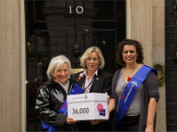 Handing in our petition to number 10 Downing Street
