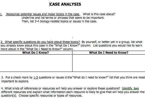 Forum IMD Exploring Evolution with Cases Case Analysis for - case analysis