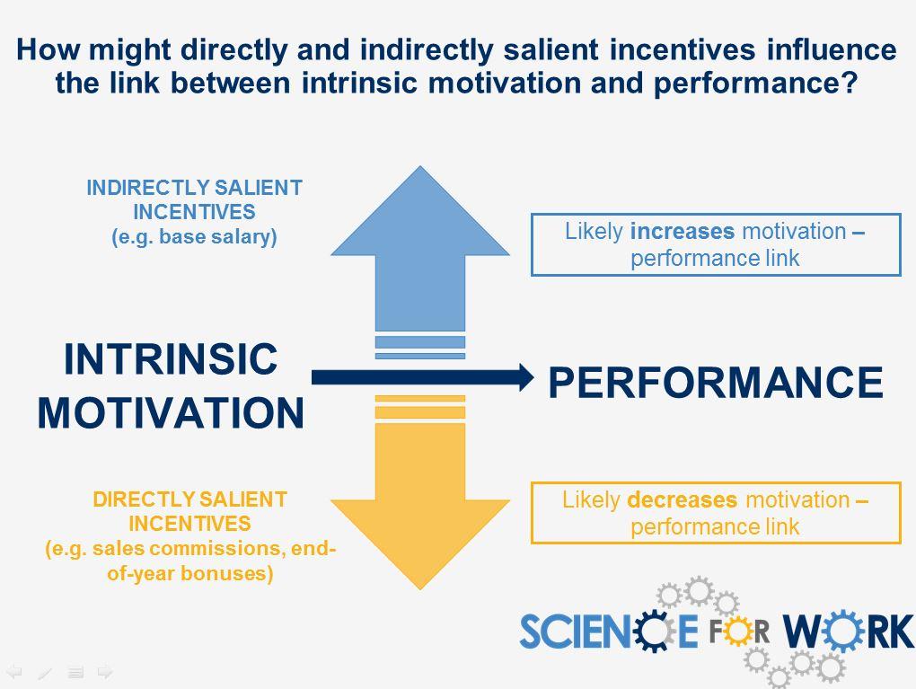 External Incentives and Internal Motivation \u2022 ScienceForWork
