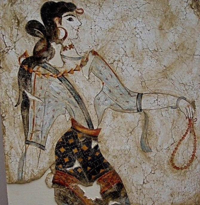 Mycenaean Fresco woman
