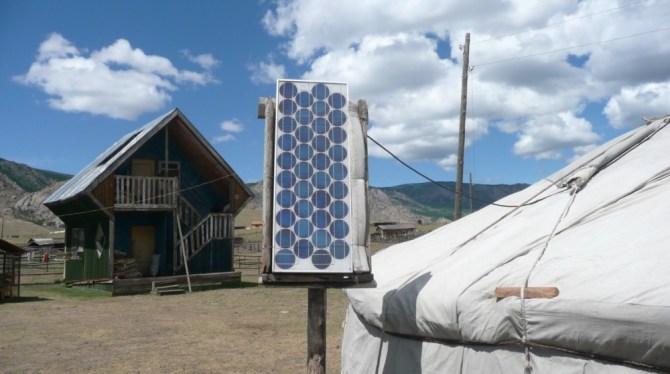Solar yurt PV