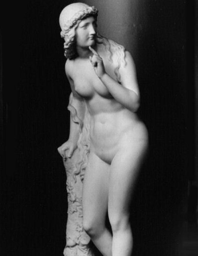 Melusina mermaid serpent statue