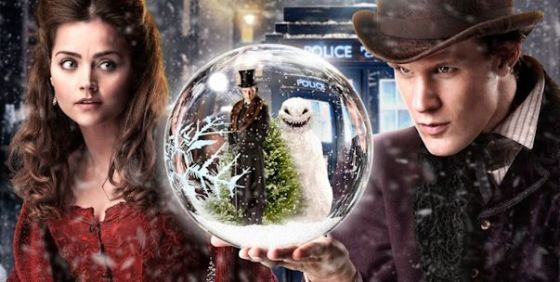 Doctor Who Xmas 12 Clara Doctor snowglobe close wide