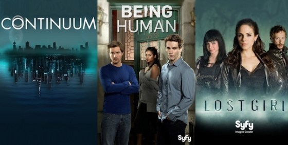 Continuum Being Human Lost Girl wide