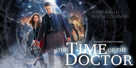 Doctor Who Xmas 2013 poster horizontal black wide