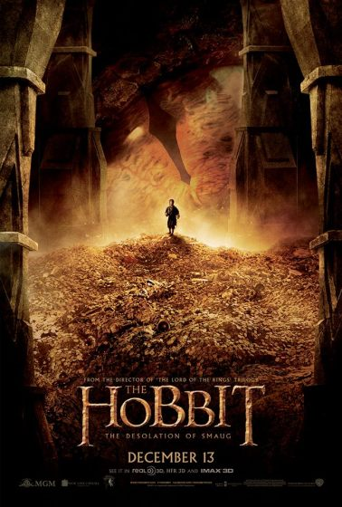 The Hobbit TDOS poster gold