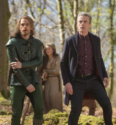 Picture shows: Tom Riley as Robin and Peter Capaldi as The Doctor