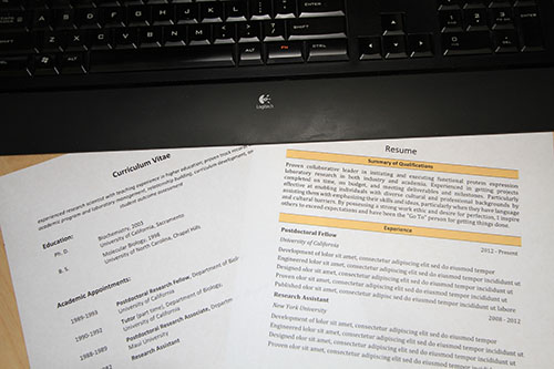 Preparing a targeted resume - SCIPHD - preparing a resume