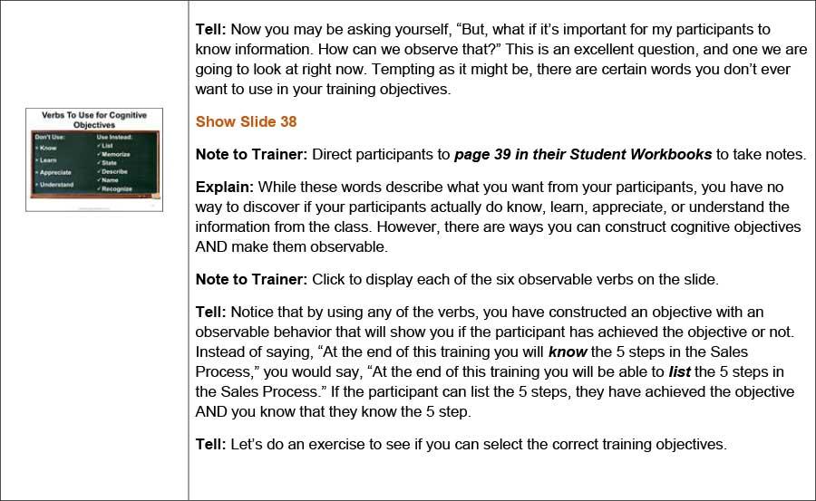 Trainer Objectives cvfreepro