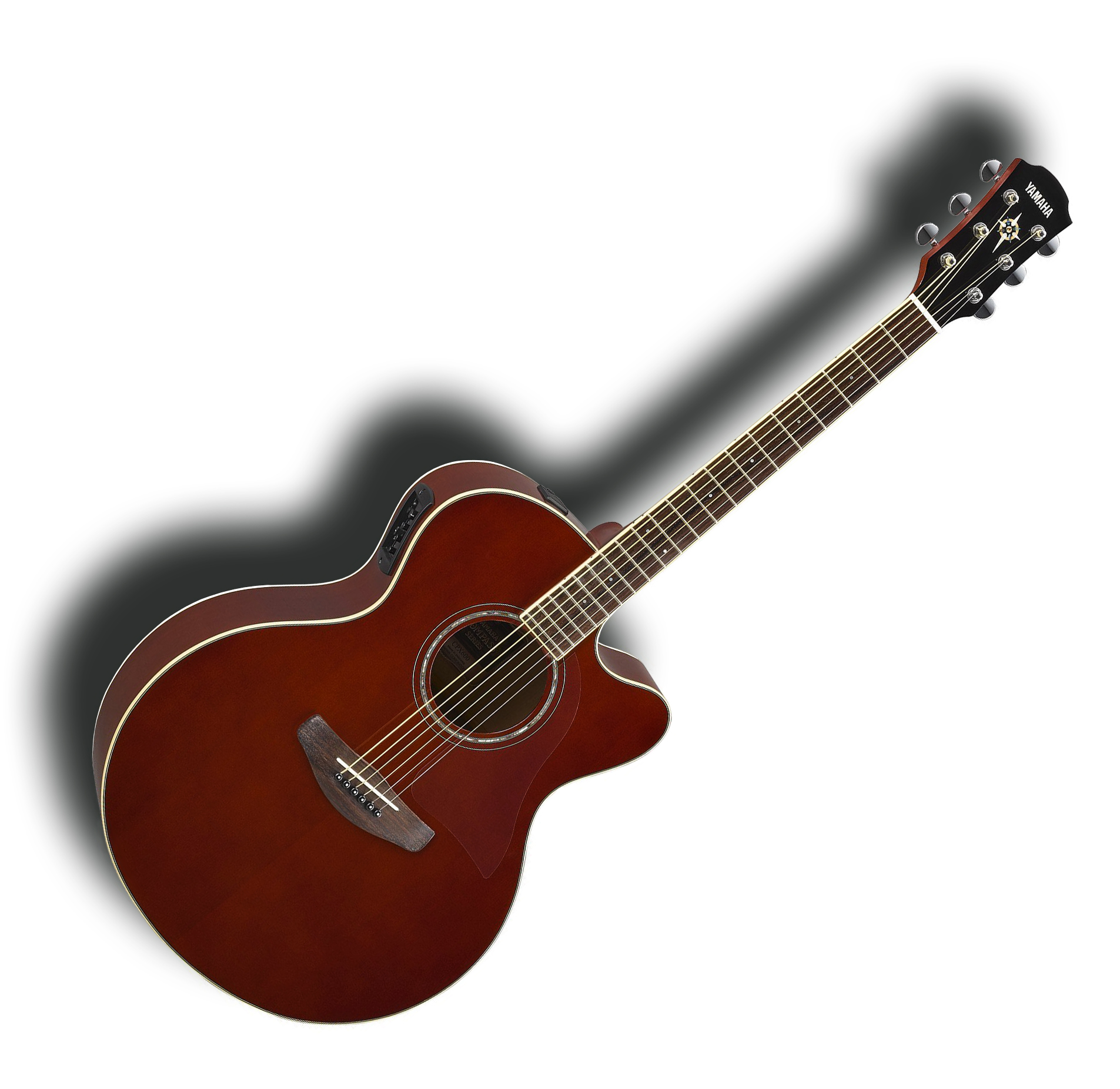 Acoustic Yamaha Yamaha Cpx600 Vt Acoustic Electric Guitar Sitka Spruce Top Root Beer Finish Pro Scm Setup