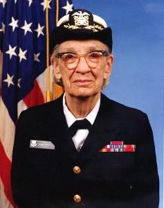 Then-Commodore Grace Hopper, 1984. (Navy photo)