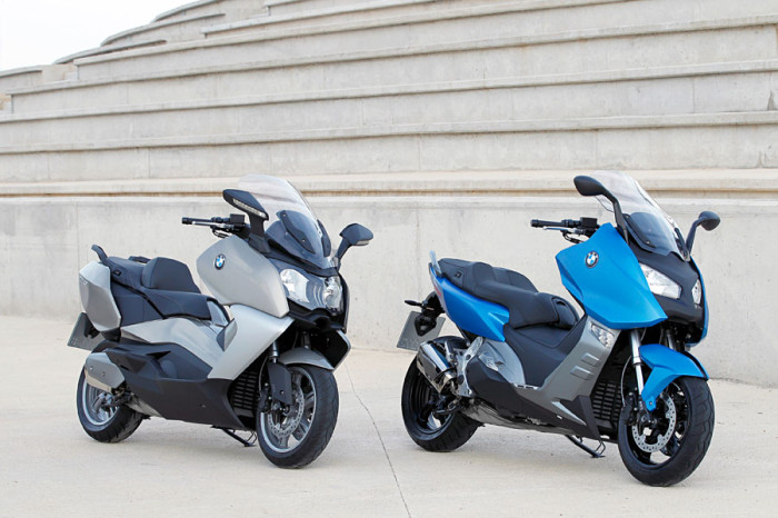 The BMW C650 GT (left) and C600 Sport (right)