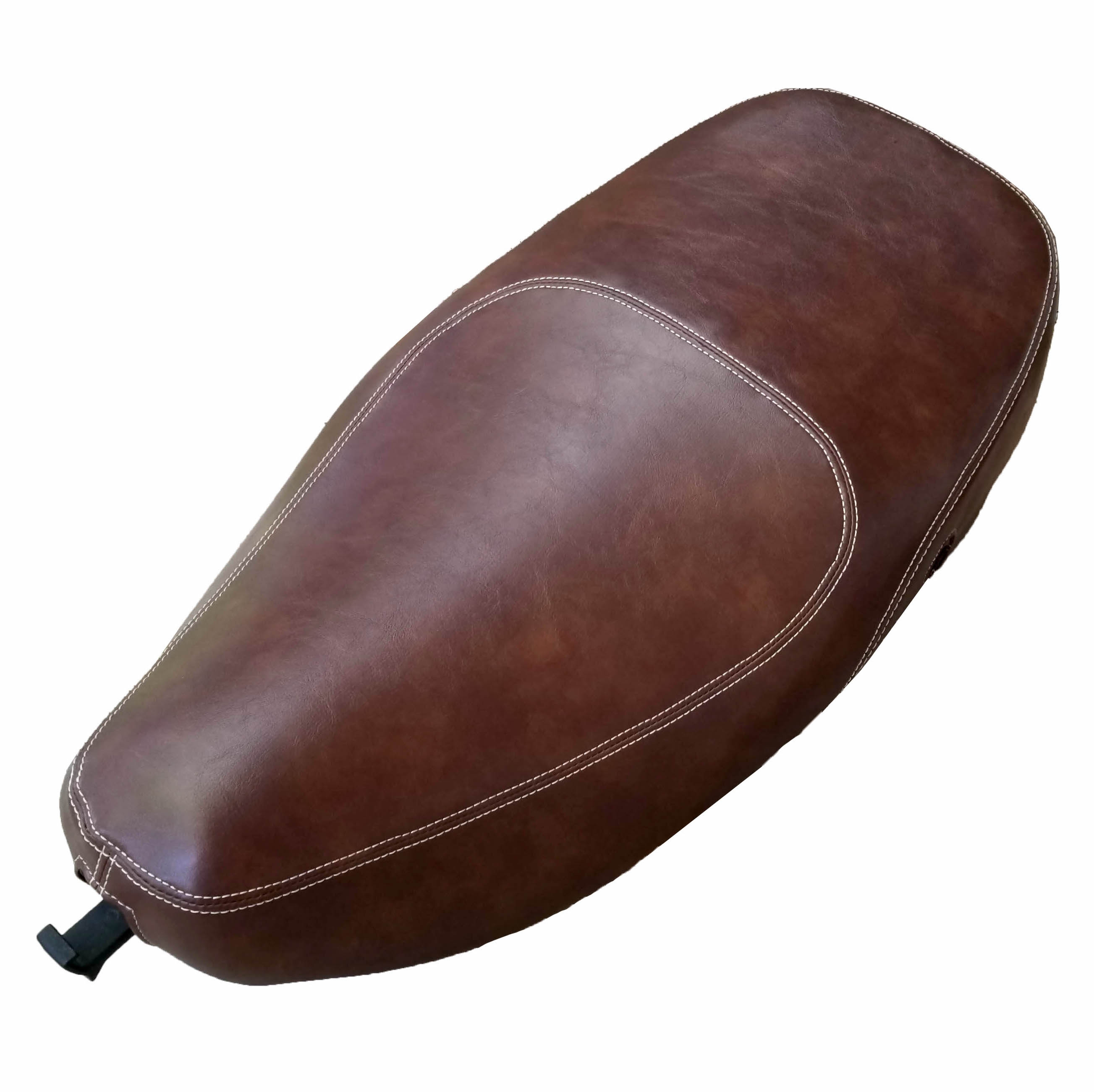 Vespa Lx 50 Vespa Lx 50 150 Brown Whiskey Oval Cut Faux Leather Seat Cover Cheeky Seats Scooter Seat Covers