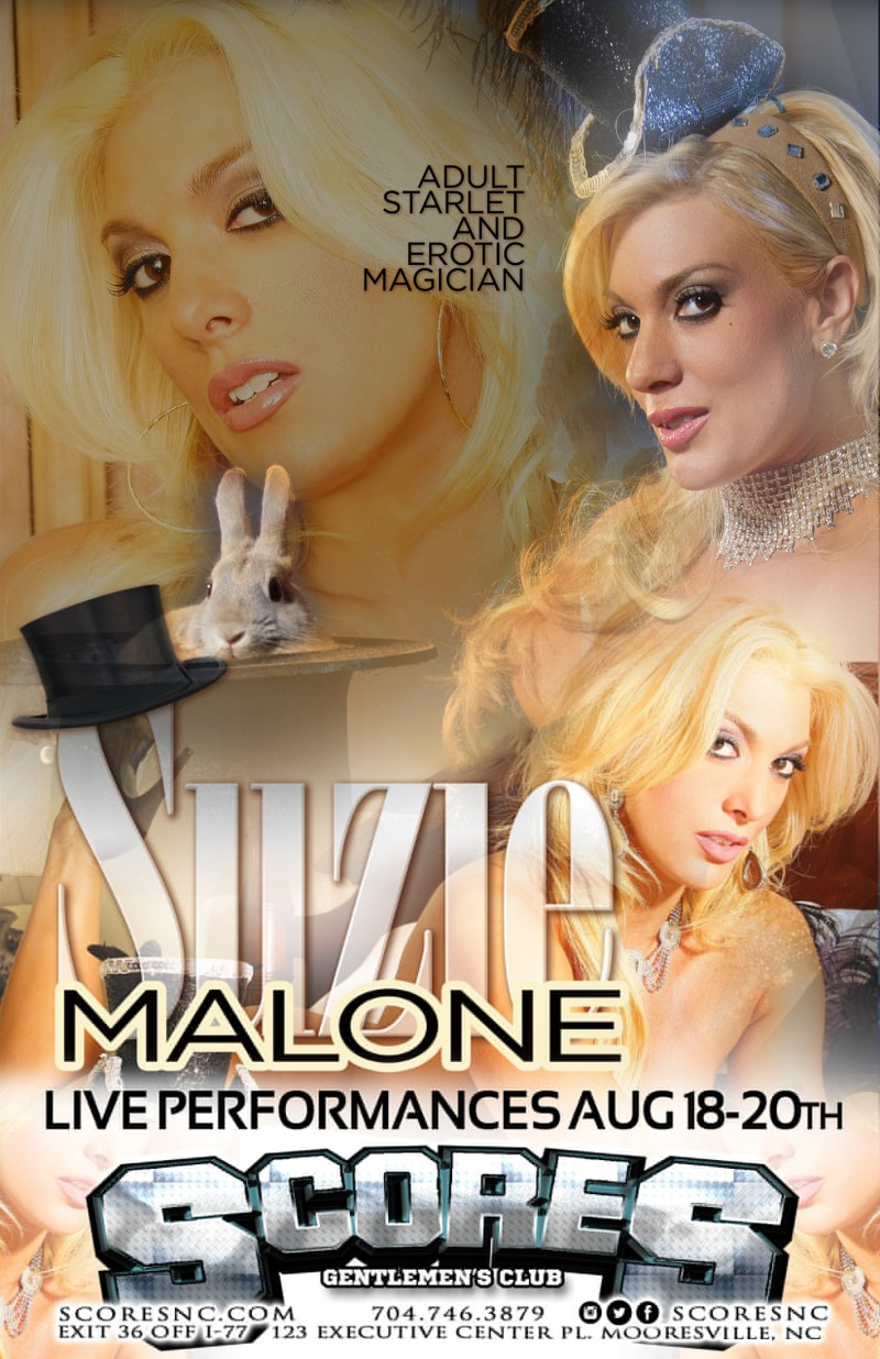 Suzie Malone – Live Aug. 18th-20th at SCORES Gentlemen's Club in Mooresville, NC