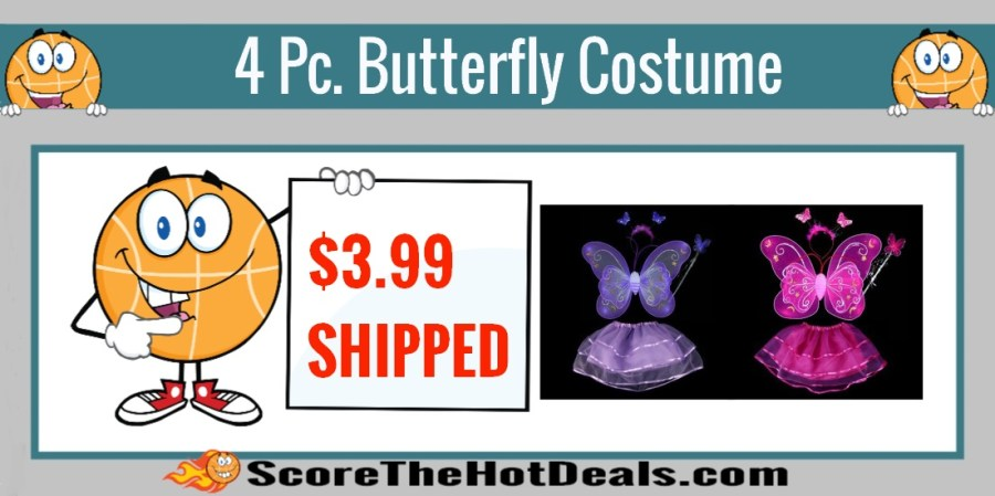 4 Piece Butterfly Dress Up Costume