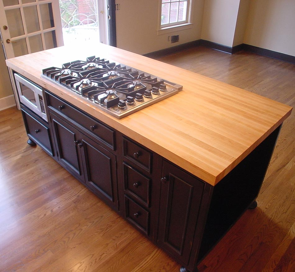 Luxury Butcher Block Countertops With Edge Grain Style Scotia Stairs Ltd