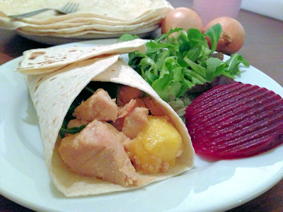 Mango Chicken Wrap
