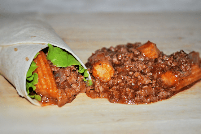 Sloppy Joes Wraps